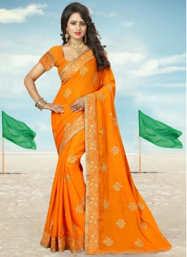 Booti Work Contemporary Saree