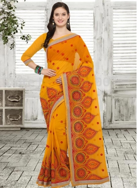 Booti Work Contemporary Saree For Festival