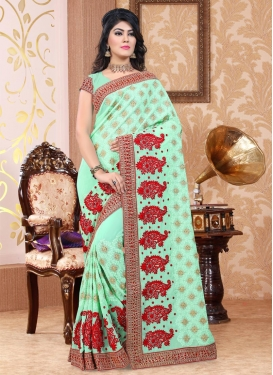 Booti Work Contemporary Style Saree