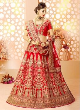 Booti Work Designer Classic Lehenga Choli For Bridal