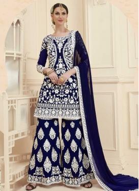 Booti Work Designer Palazzo Salwar Suit