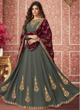 Booti Work Flaring Anarkali Salwar Suit