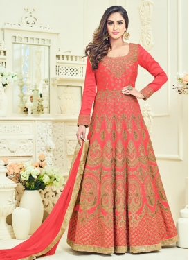 Booti Work Floor Length Anarkali Salwar Suit