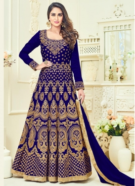 Booti Work Floor Length Anarkali Salwar Suit For Festival