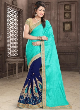 Booti Work Half N Half Trendy Saree For Festival