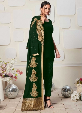 Booti Work Jacket Style Salwar Kameez