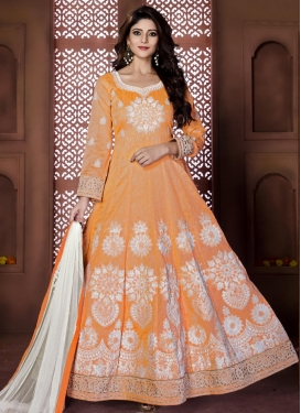 Booti Work Long Length Anarkali Salwar Suit