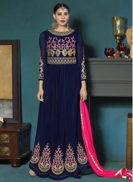 Booti Work Long Length Designer Anarkali Suit