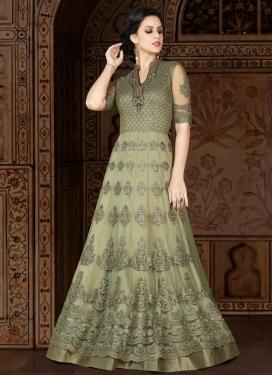 Booti Work Net Floor Length Anarkali Salwar Suit