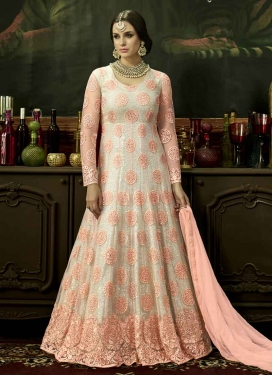 Booti Work Net Floor Length Salwar Kameez