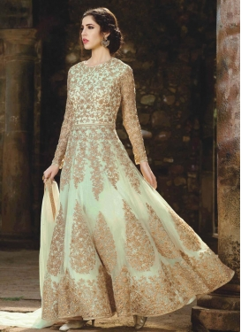 Booti Work Net Long Length Designer Anarkali Suit