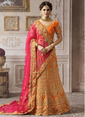 Booti Work Net Trendy Lehenga Choli