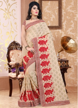 Booti Work Pure Georgette Contemporary Saree