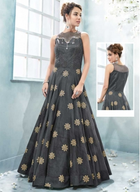 Booti Work Readymade Long Length Gown