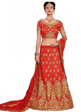 Booti Work Silk Designer Classic Lehenga Choli