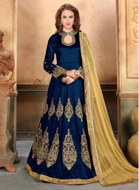 Booti Work Silk Trendy Anarkali Salwar Kameez