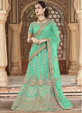 Booti Work Silk Trendy Lehenga Choli