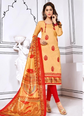 Booti Work Trendy Churidar Suit