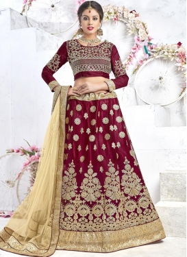 Booti Work Trendy Lehenga Choli For Ceremonial