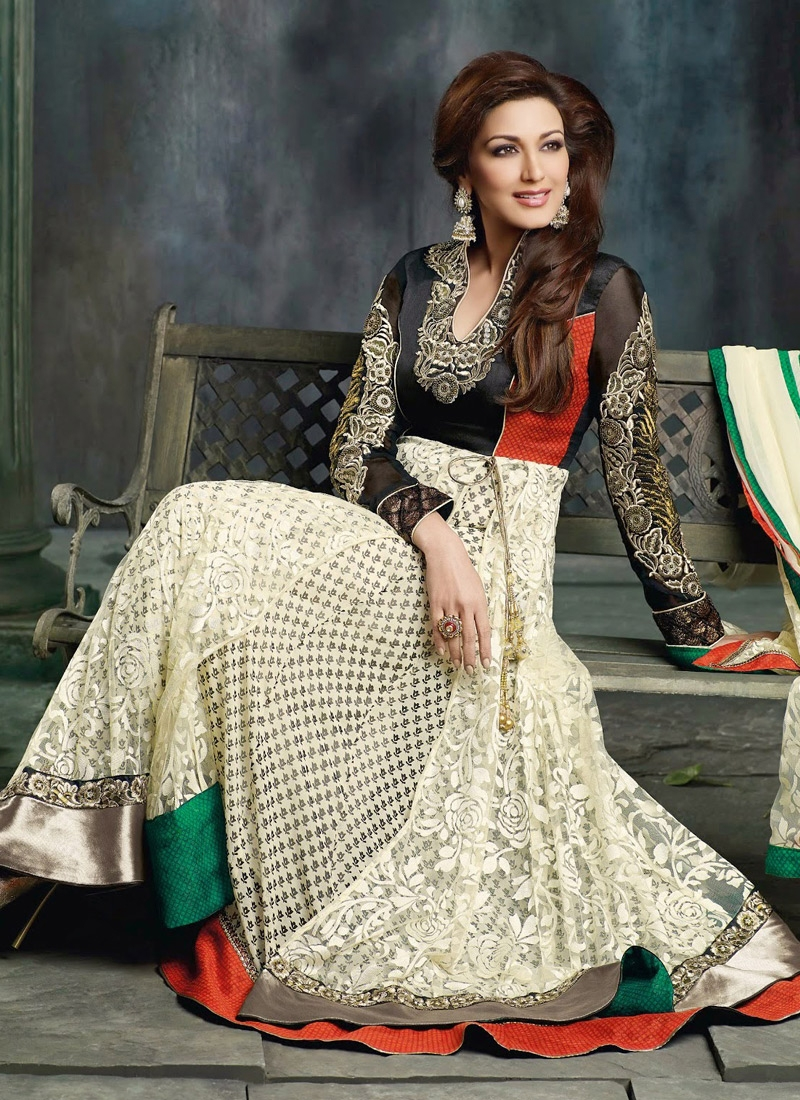 Brasso And Net Sonali Bendre Bollywood Suit