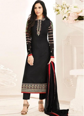 Brasso Georgette Pant Style Pakistani Salwar Suit For Festival