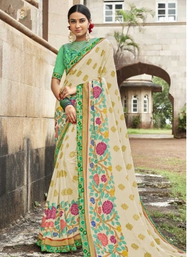 Brasso Georgette Traditional Designer Saree