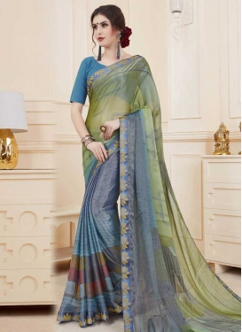 Brasso Georgette Traditional Designer Saree For Ceremonial