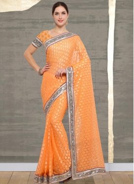 Brasso Georgette Traditional Saree For Casual