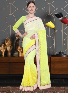 Brasso Lace Work Traditional Saree