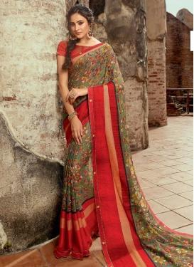 Brasso Traditional Designer Saree For Ceremonial