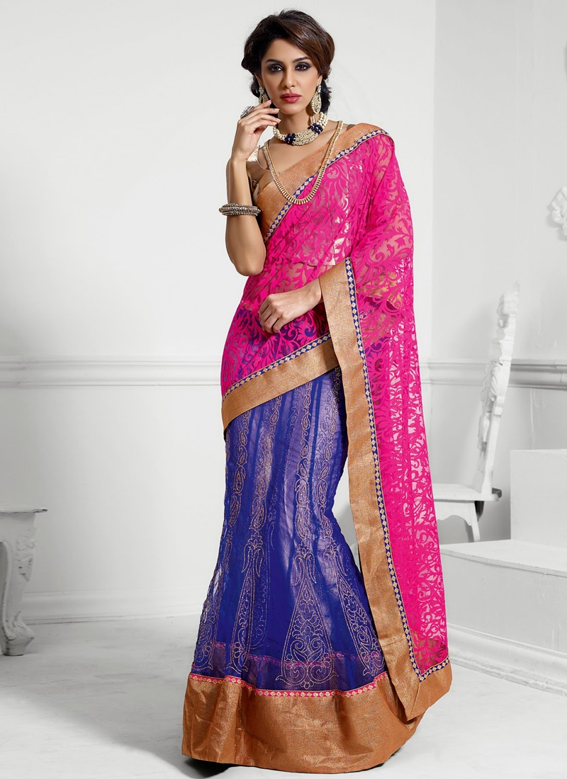 Breathtaking Chicken Enhanced Lehenga Saree