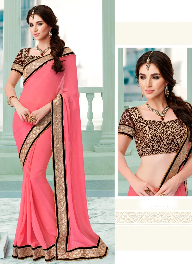 Breathtaking Hot Pink Color Party Wear Saree