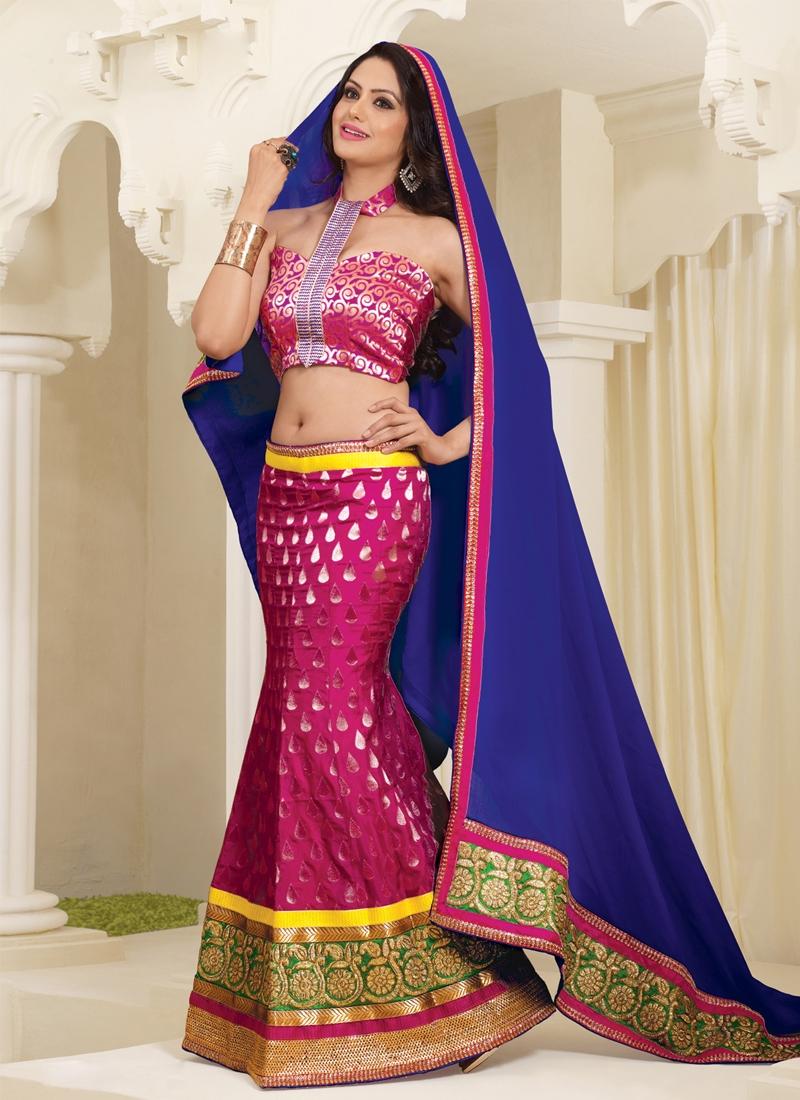 Breathtaking Magenta Color Wedding Lehenga Choli