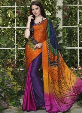 Breathtaking Multi Color Casual Saree