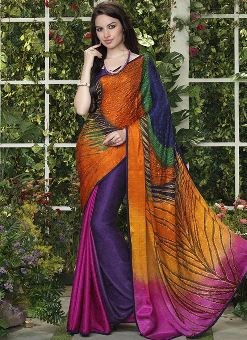 Breathtaking Multi Color Casual Saree