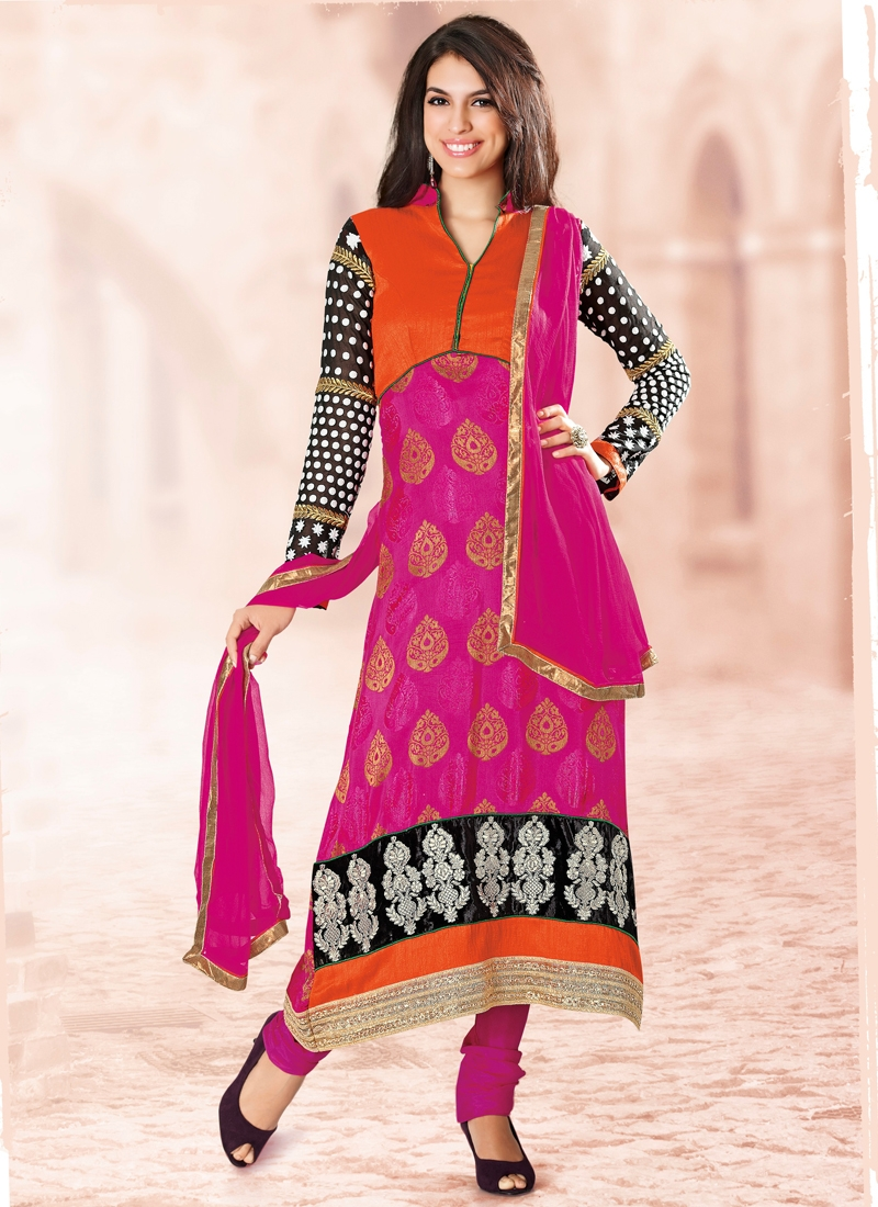 Breathtaking Resham Work Party Wear Salwar Suit