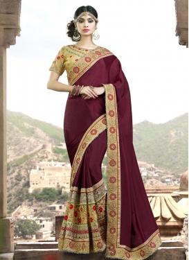 Brilliant Beads Work Trendy Designer Saree