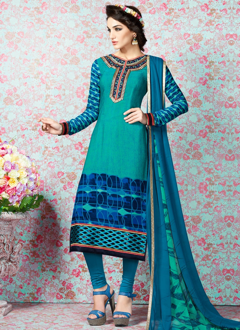 Brilliant Digital Print Work Casual Salwar Kameez