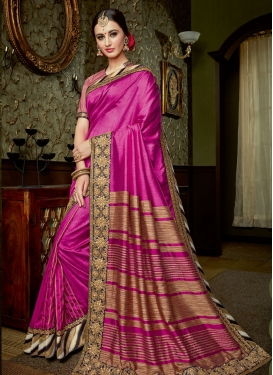 Brilliant Silk Lace Work Classic Designer Saree