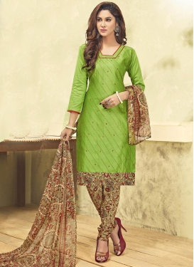 Brown and Mint Green  Trendy Salwar Suit For Casual
