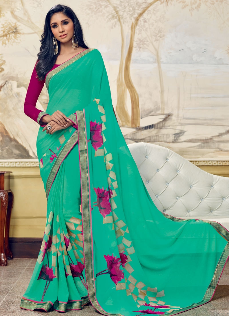 Capricious Faux Georgette Printed Casual Saree