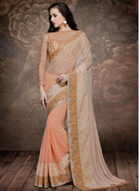 Capricious Patch Border Work Designer Saree
