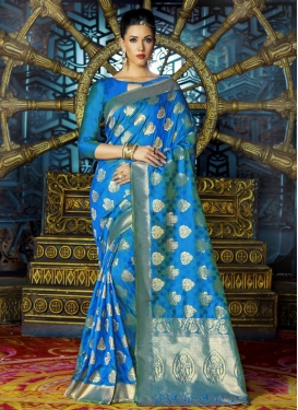 Captivating Art Silk Contemporary Style Saree