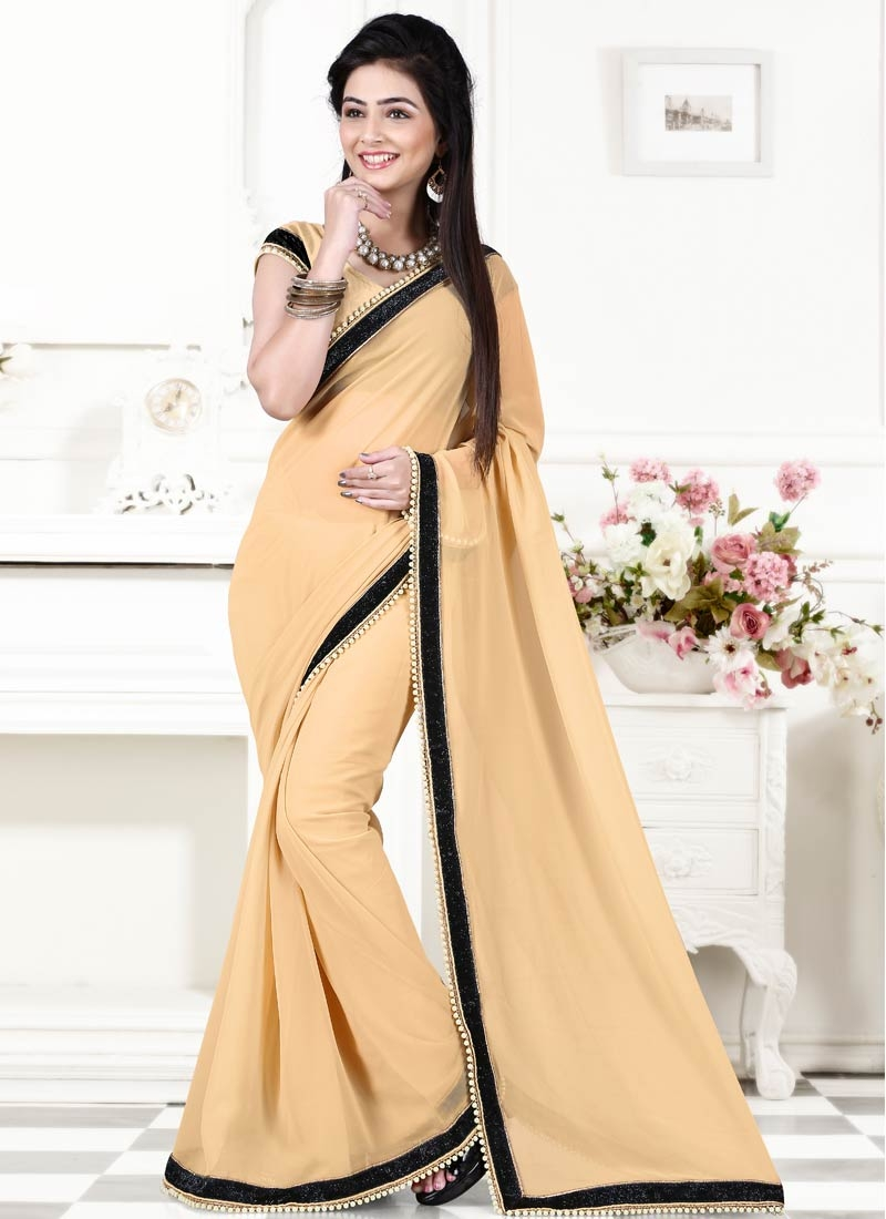Captivating Beads Work Casual Saree