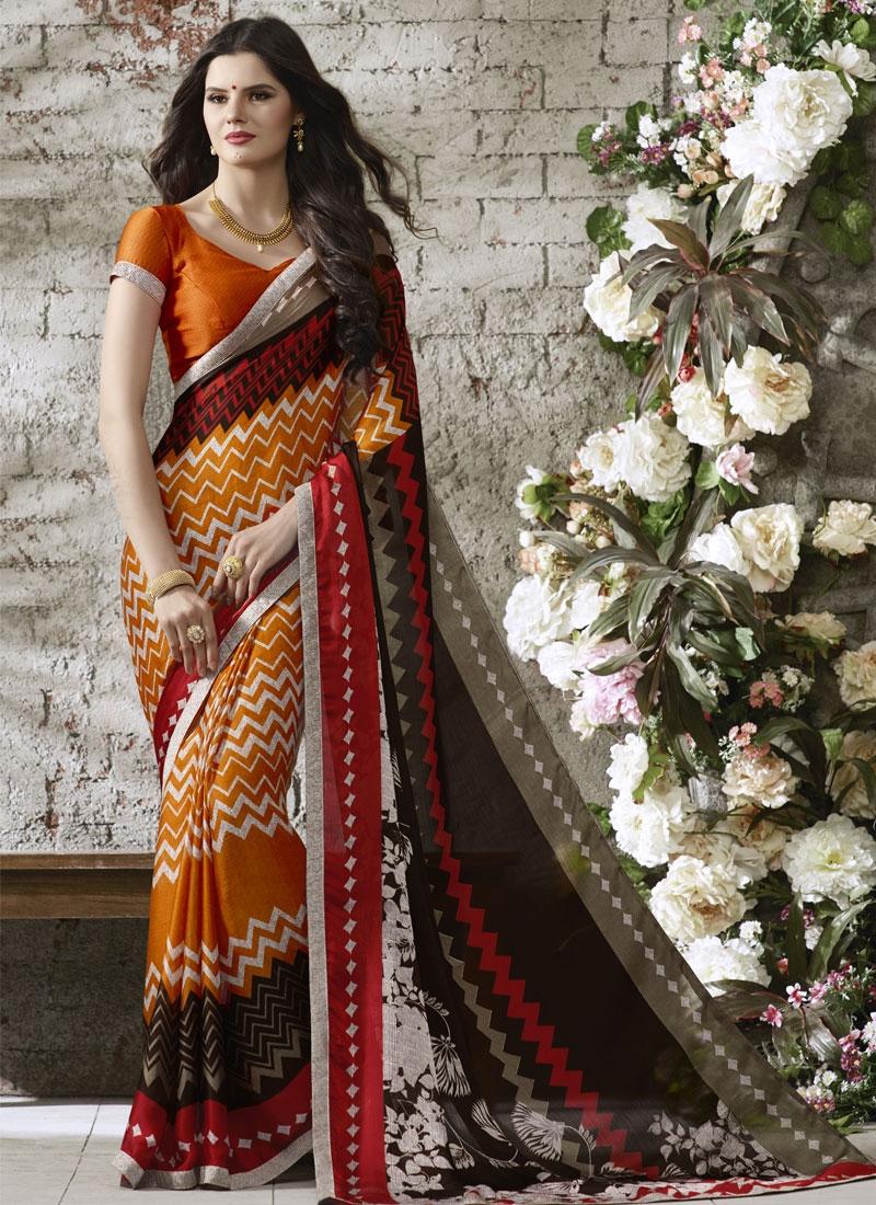Captivating Chiffon Satin Casual Saree