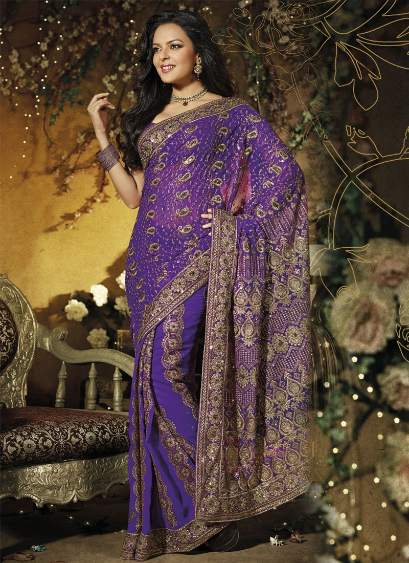Captivating Faux Georgette Casual Saree
