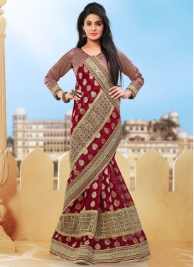 Captivating Mirror Work Viscose Designer Saree