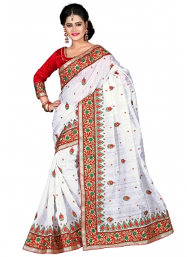 Captivating Multi And Resham Work Designer Saree