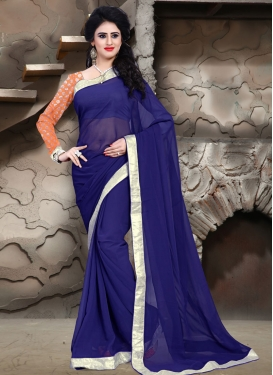Captivating Navy Blue Color Casual Saree