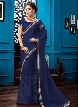 Captivating Net Lehenga Style Saree